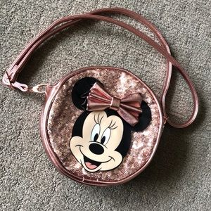 Rose Gold Minnie Mouse Bag